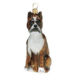 Sitting Boxer Ornament