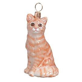 Orange American Shorthair Cat Ornament