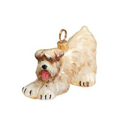 Soft Coated Wheaten Terrier with Play Bow Ornament