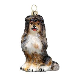 Blue Merle Shetland Sheepdog Ornament