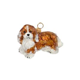 Snowy Cavalier King Blenheim Ornament