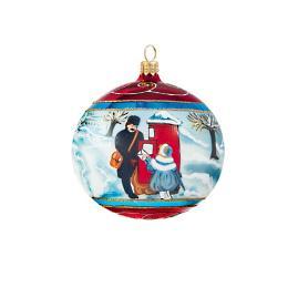 Vintage British Christmas Reflector Ball Ornament
