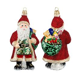 Galician Santa w/Presents Ornament