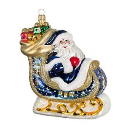 Bratislava Winter Scene Santa's Sleigh Ornament