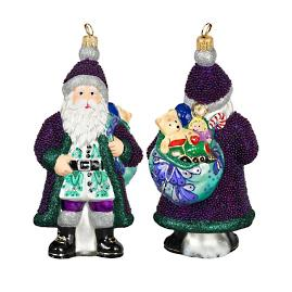 Galician Santa Purple Beaded Version Ornament