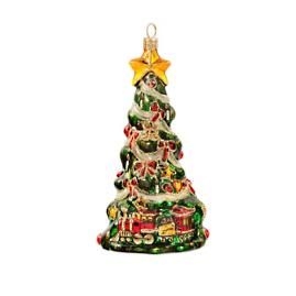 Christmas Tree with Train Ornament