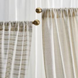Sheer Geo Diamond Drapery Panel