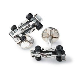 Race Car Cufflinks with Moving Parts
