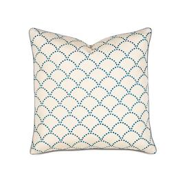 Charleston Embroidered Scallop Decorative Pillow