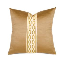 Luxe Lucent Gold Decorative Pillow