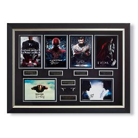 Comic Book Heroes Autographed Display