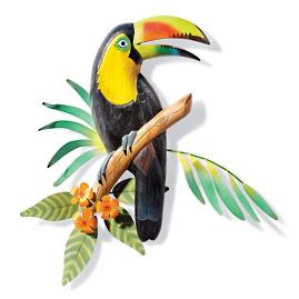Handcarved Toucan Wall Art