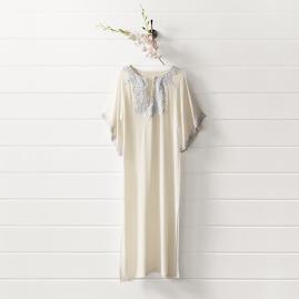 Savoy Long Silk Chiffon Caftan