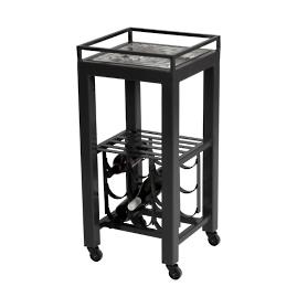 Hayden Lagoon Modern Wine Cart Table