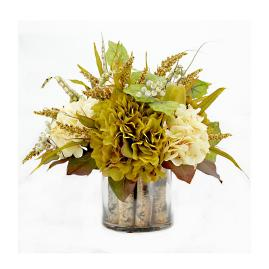 Garner Arrangement in Glass Container