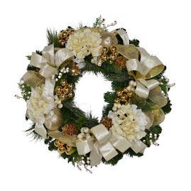 Bianca Gold Ribbon Wreath