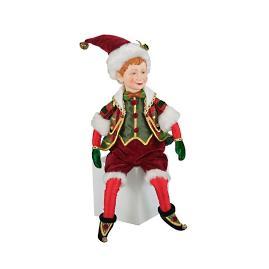 Katherine's Collection Tartan Christmas Elf Doll