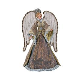 Glimmering Angel Figure Tree Topper