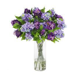 Lilac in Glass Vase