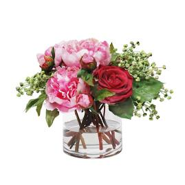 Peony and Rose in Vase