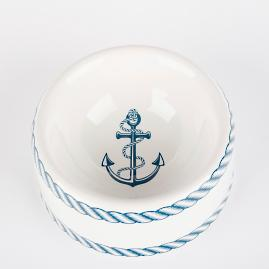 Nautical Dog Bowl