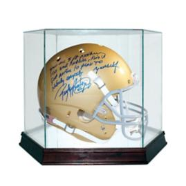 Rudy Ruettiger Signed Notre Dame Replica Helmet