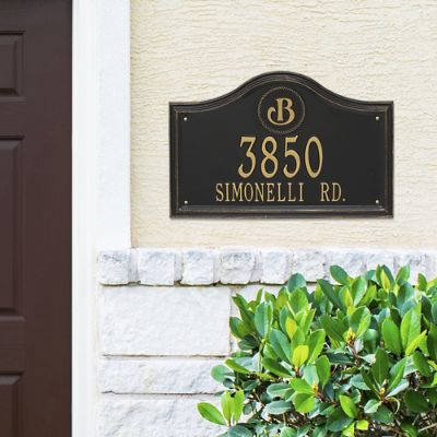 Designer Arch Wall Address Plaque Frontgate