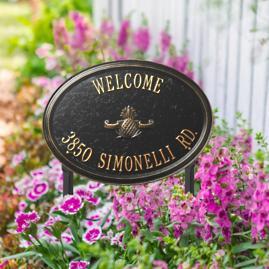 Designer Oval Lawn Address Plaque
