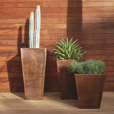 Tapered Copper Planter Frontgate