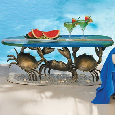 Crab Surfboard Table Frontgate