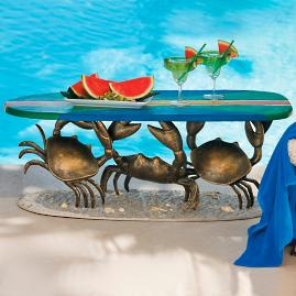Crab Surfboard Table