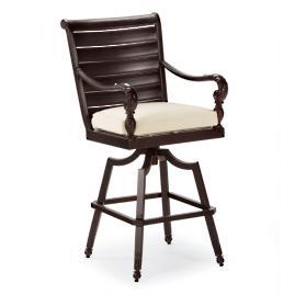 British Colonial Bar Stool Cushion