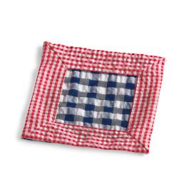 Kim Seybert Gingham Cocktail Napkins, Set of Six
