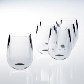12 oz. Stemless Wine Glasses, Set of Six