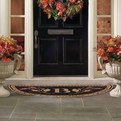 Fall Flourish Half Round Door Mat Frontgate