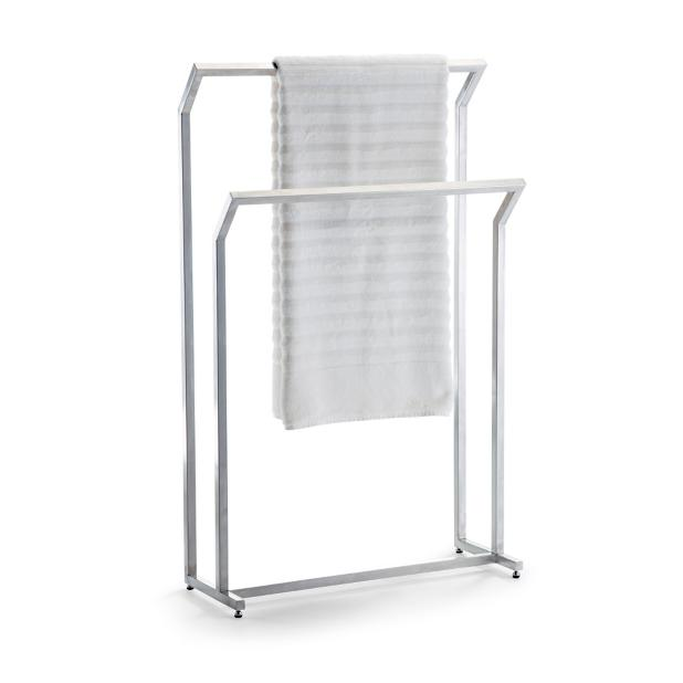 Marais Teak Stainless Free Standing Towel Rack Frontgate