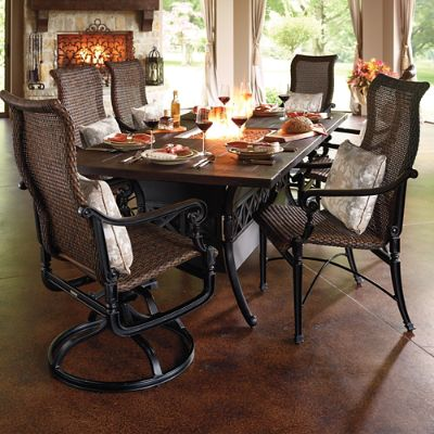 Carlisle Fire Dining Table Frontgate