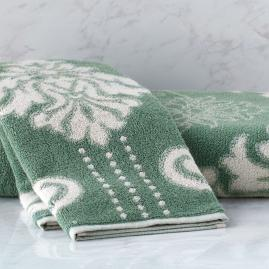 Blythe Two-tone Damask Hand Towel