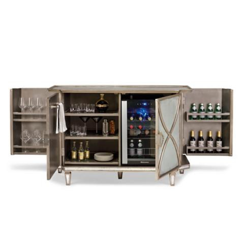 Ainsworth Eglomise Bar Cabinet Frontgate