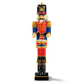 Animated 5 ft nutcracker drummer for 4 foot nutcracker decoration