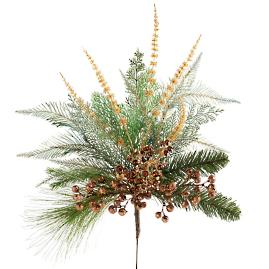 Set of Six Shades of Gold Tree Bouquets