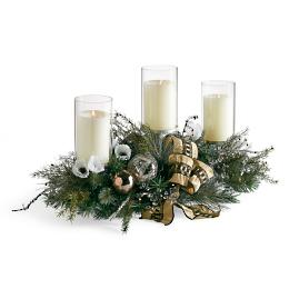 Regency Pre-decorated Three-candle Centerpiece