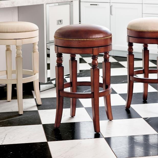 Olivia Swivel Backless Bar Stool Frontgate
