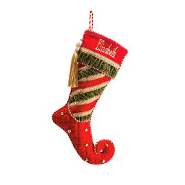 'Tis The Season Red Cuff Quilted Stocking