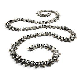 Oval Grey Crystal Jewelry Garland