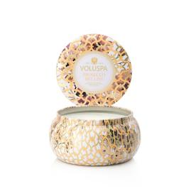 Voluspa Prosecco Bellini Two-Wick Metallo Candle