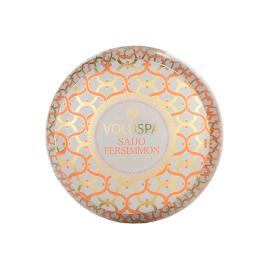 Voluspa Saijo Persimmon 2-Wick Metallo Candle