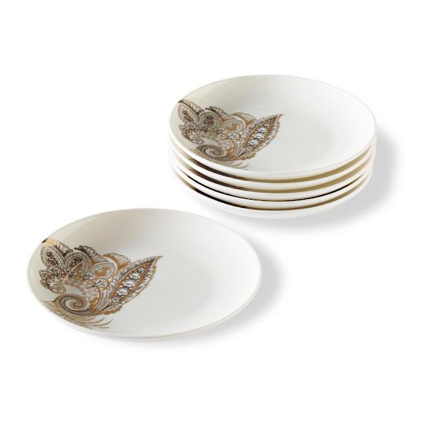 Caskata Bohemian Paisley Rimmed Dinner Plate Frontgate