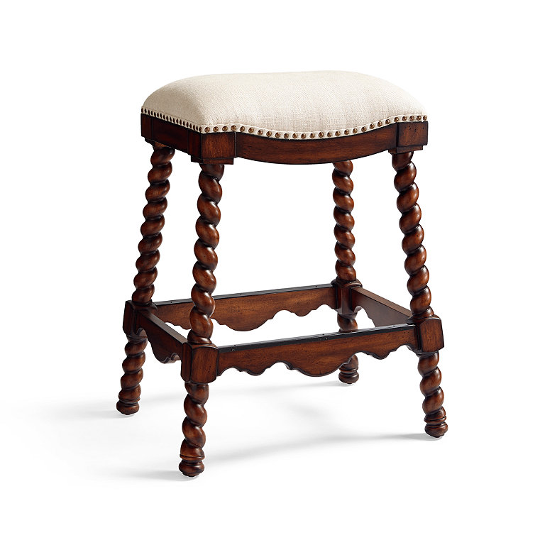 Nailhead Trim Upholstered Bar Stool Frontgate