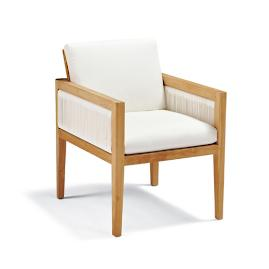 Brizo Dining Arm Chair with Cushion by Porta